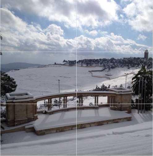 שלג בהר הצופים תיאטרון